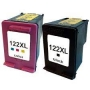 Kit Cartucho Compatível HP 122 XL Black + Color