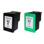 Kit Cartucho Compatível HP Black 92 /  Color 93 / 1510 / C3180 / C4180