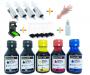 Kit recarga Universal 200ml Tinta Bk / 300ml Tinta Color