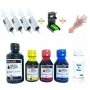 Kit recarga Universal 250ml Tinta Bk / 300ml Tinta Color