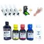 Kit Recarga Universal 500ml Tinta Bk/ 300ml Tinta Color