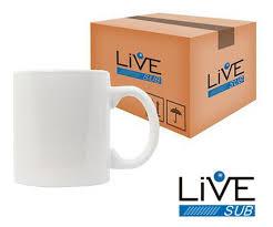 Caneca Branca Live Sub - 12 Unidades