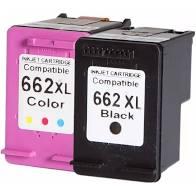 Cartucho Compatível H 662XL - Preto e Colorido
