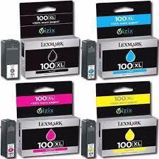 Cartucho Lexmark 100XL -Kit 4 Cores