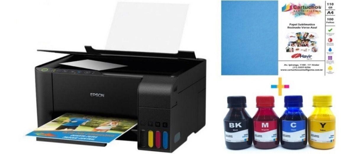Impressora Multifuncional Epson L 3150 com Tinta Sublimatica Inktec + Papel Sublimatico
