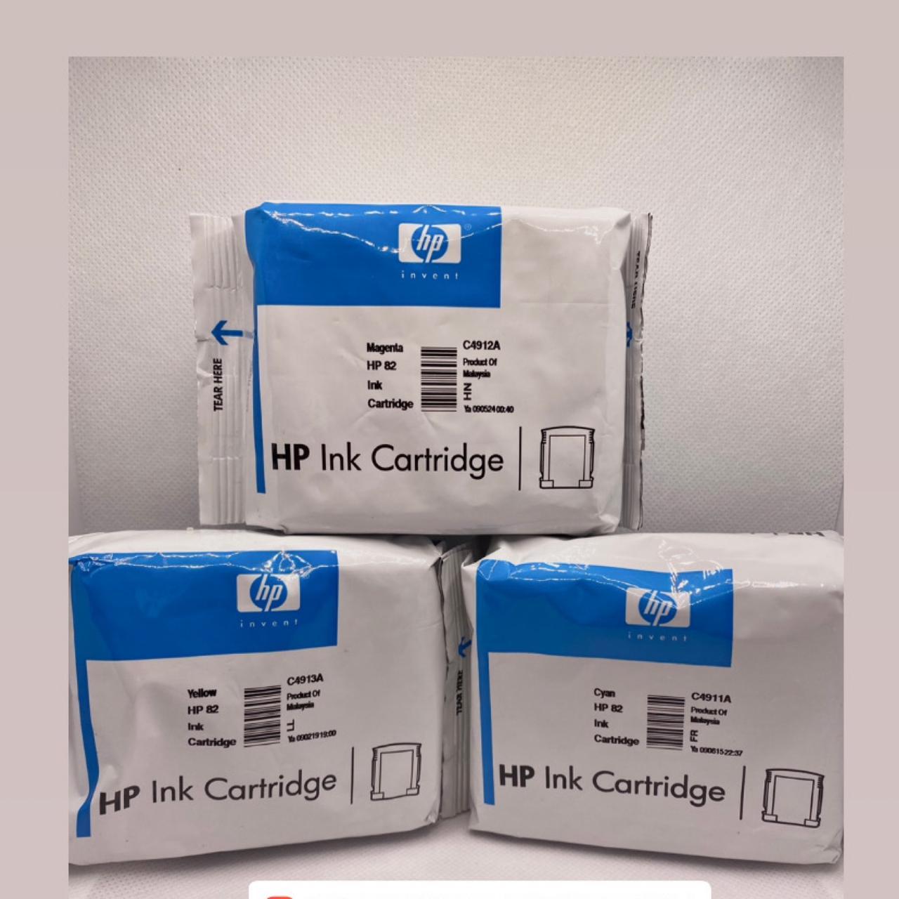Kit 3 Cores Cartucho Hp - 82 ORIGINAL LACRADO s/caixa+ UM BRINDE SURPRESA