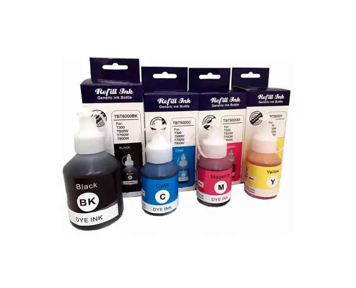Kit 4 Cores Tinta Compatível Corante Brother DCP-T300/ DCP-T500W/ DCP-T700W/ MFC-T800W/ T500/ T700/ T800