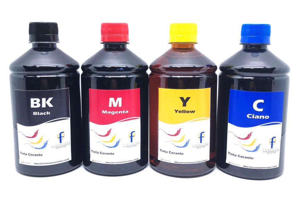 Kit 4 Tintas Epson 500 Ml Ecotank Bulk Ink Formulabs para Impressoras Epson