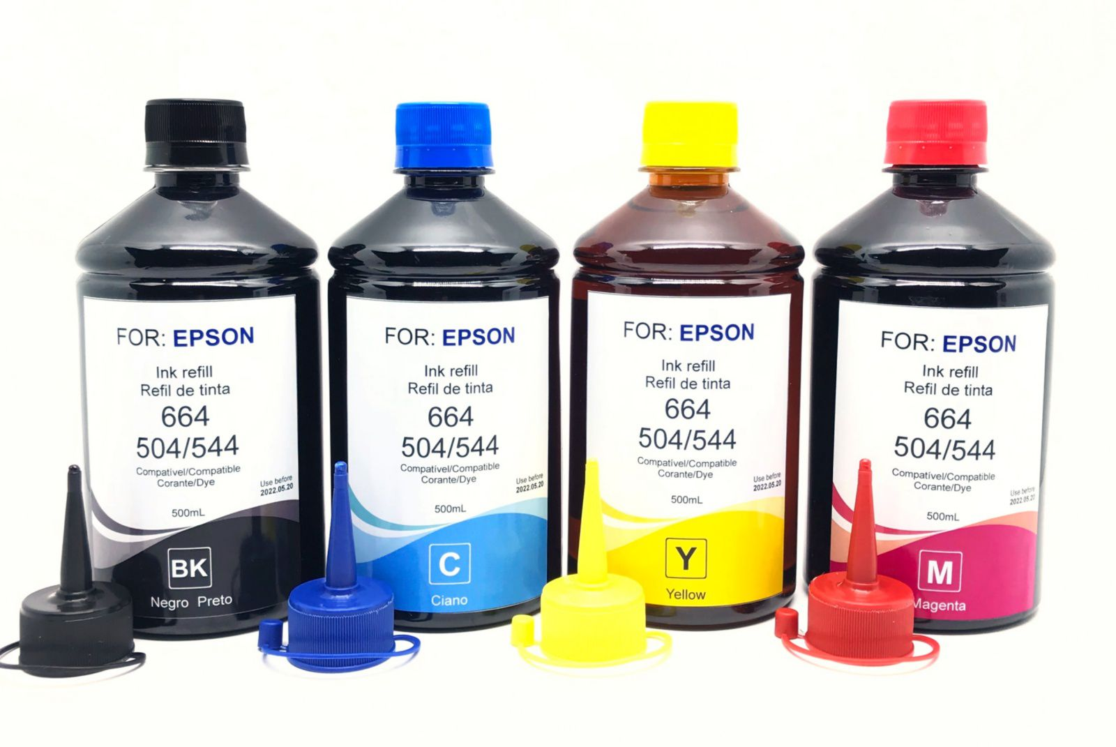Kit 4 Tintas Epson 500 Ml Ecotank Bulk Ink Formulabs + Bico