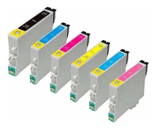 kit 6 Cartuchos Compatíveis P/ Epson 821/822 /823 /824 /825 /826 /T50 /R270 /R290