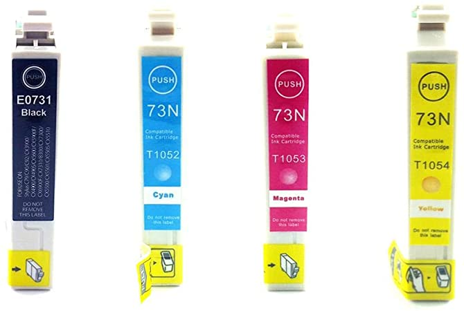 KIT CARTUCHO COMPATIVEL EPSON 73N PARA USO EM TO731 / TO732 / TO733 / TO734