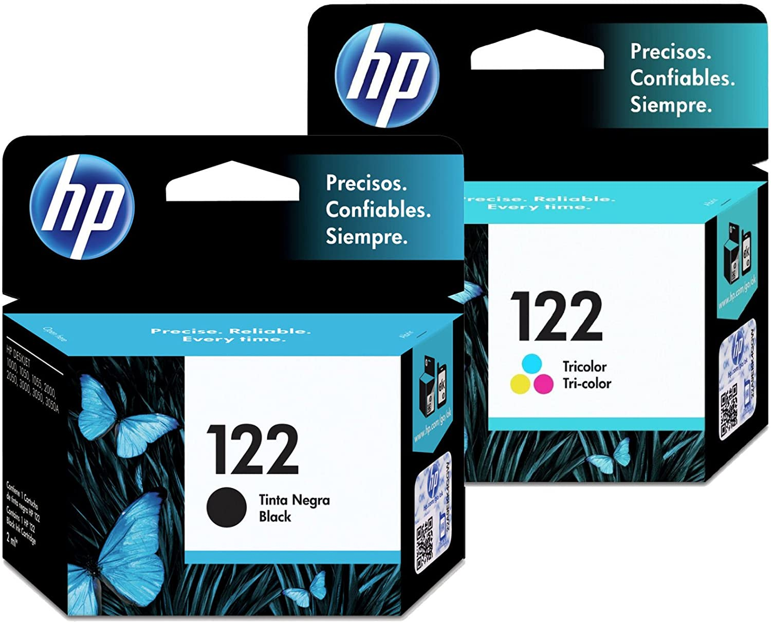 Kit Cartucho HP Original 122 Preto / Cartucho HP Original 122 Colorido