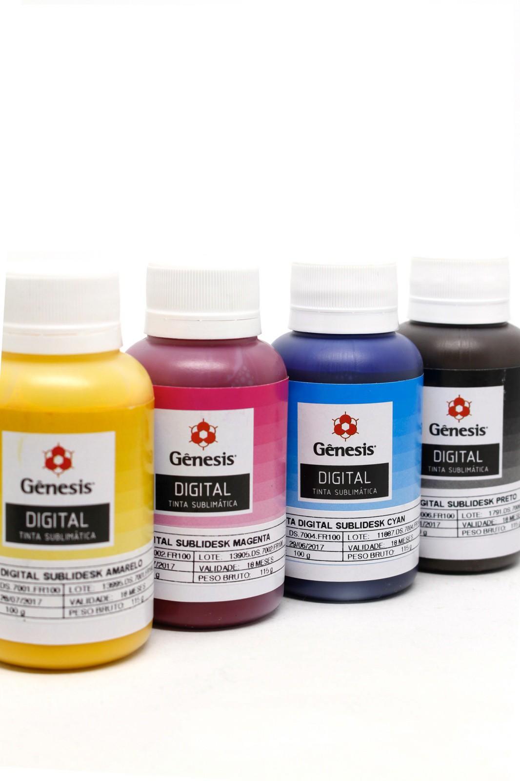 Kit de Tinta Sublimatica Genesis 4x 100 ml