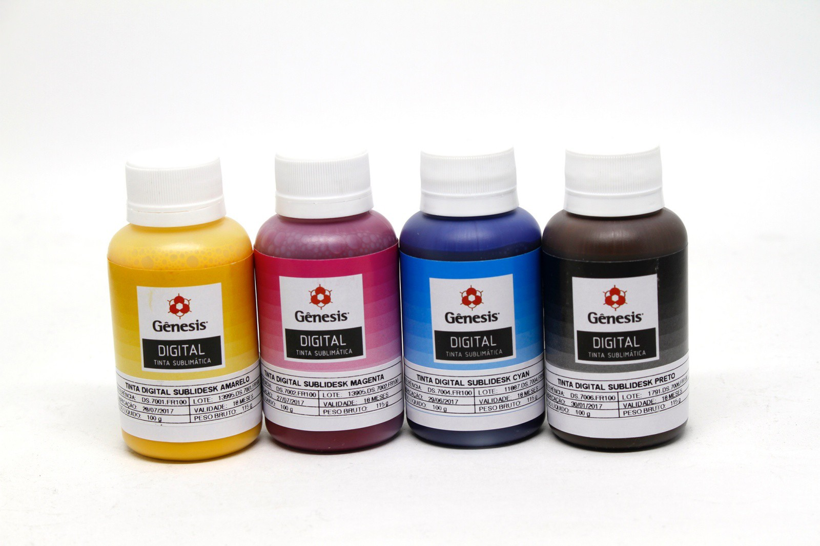 Kit de Tinta Sublimatica Genesis 4x 100 ml