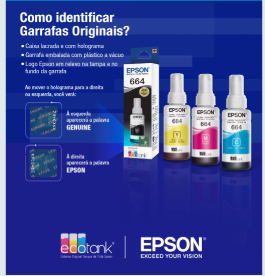 Kit Refil de Tinta Original Epson 504 L6161 L4150 L4160 L6191 L6171