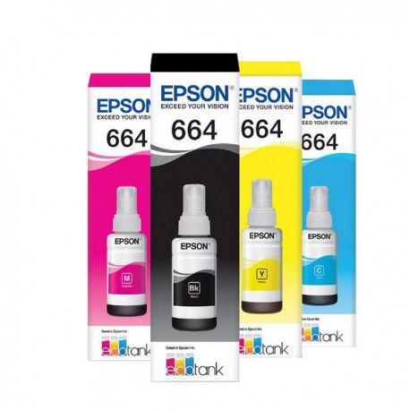 Refil de Tinta Original Epson 664 - 04 Cores
