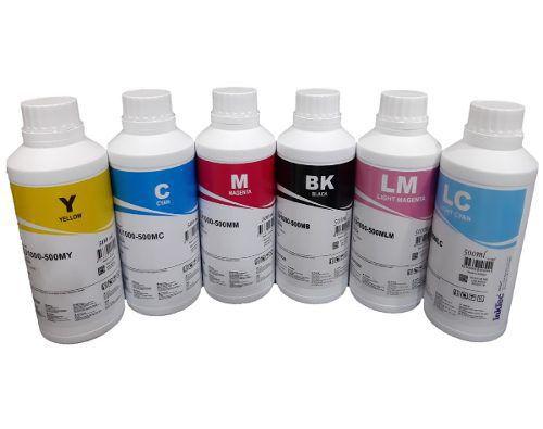 Tinta Corante Inktec Epson Para Bulk Ink E Ecotank 500ml X 6 Cores