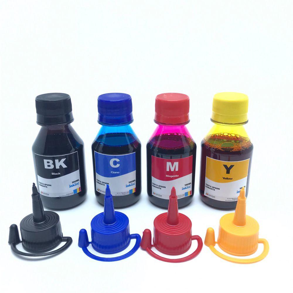 Tinta Inktec Corante para Epson 4 x 100 ml