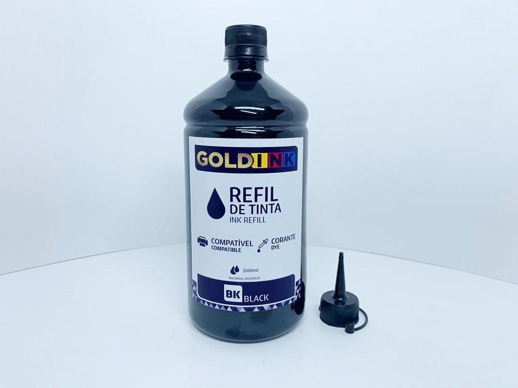 Tinta Para Impressoras Epson Linha Ecotank e Bulk Ink Black Corante Litro Gold Ink