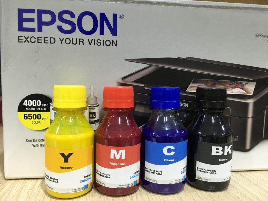Tinta Pigmentada Inktec Para Epson kit  04 x 100 ml