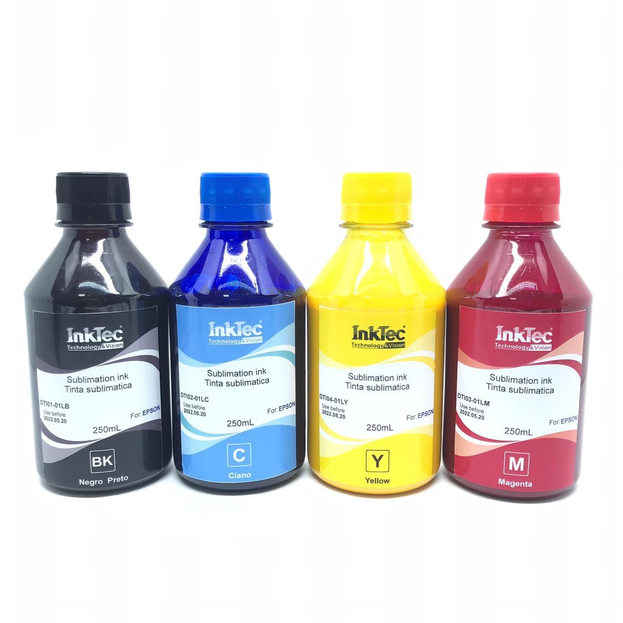 Tinta Sublimatica Inktec Dti Epson 4 X 250ml