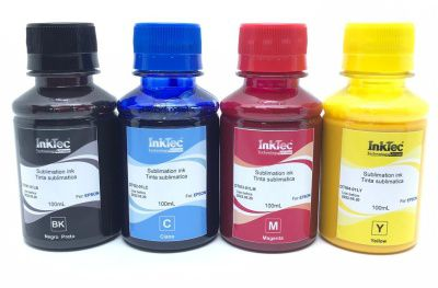 Tinta Sublimatica Inktec - Kit 4 Cores 400ml