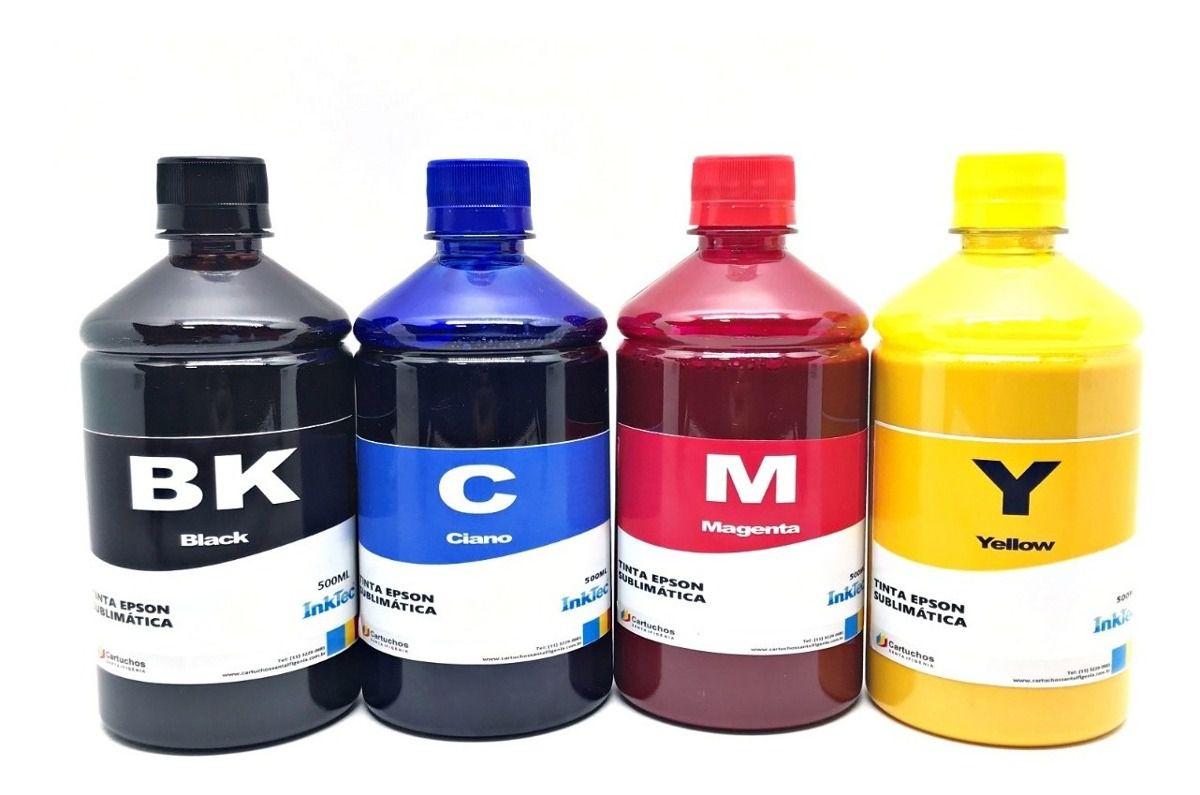Tinta Sublimatica Inktec para Epson Kit 4 Cores x 500 ml