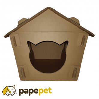 Casinha de Papelão para gatos - Pequena