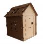 Casa de Papelão Pequena com Janela