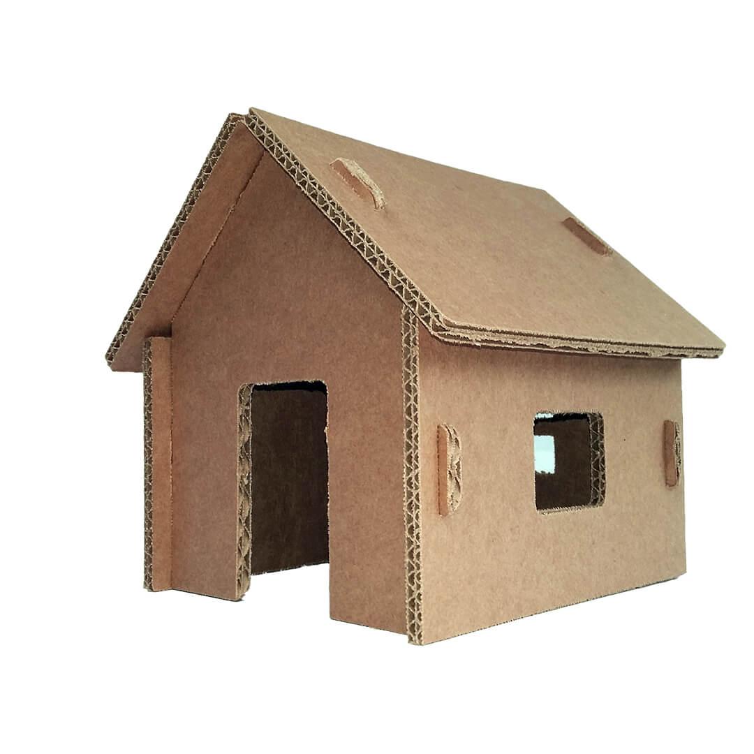 Mini Casinhas de Papelão