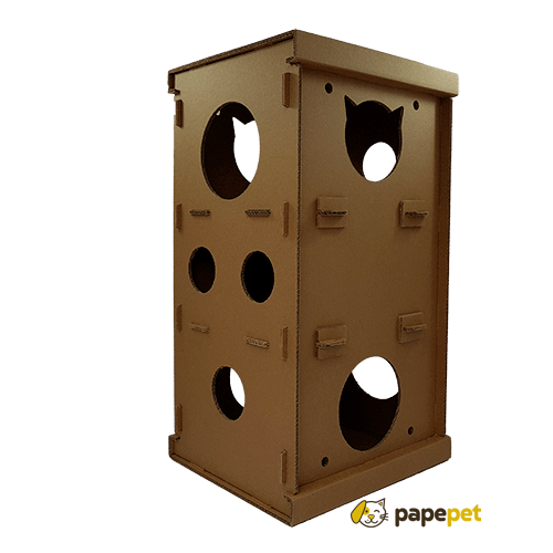 Torre de Papelão para Gatos