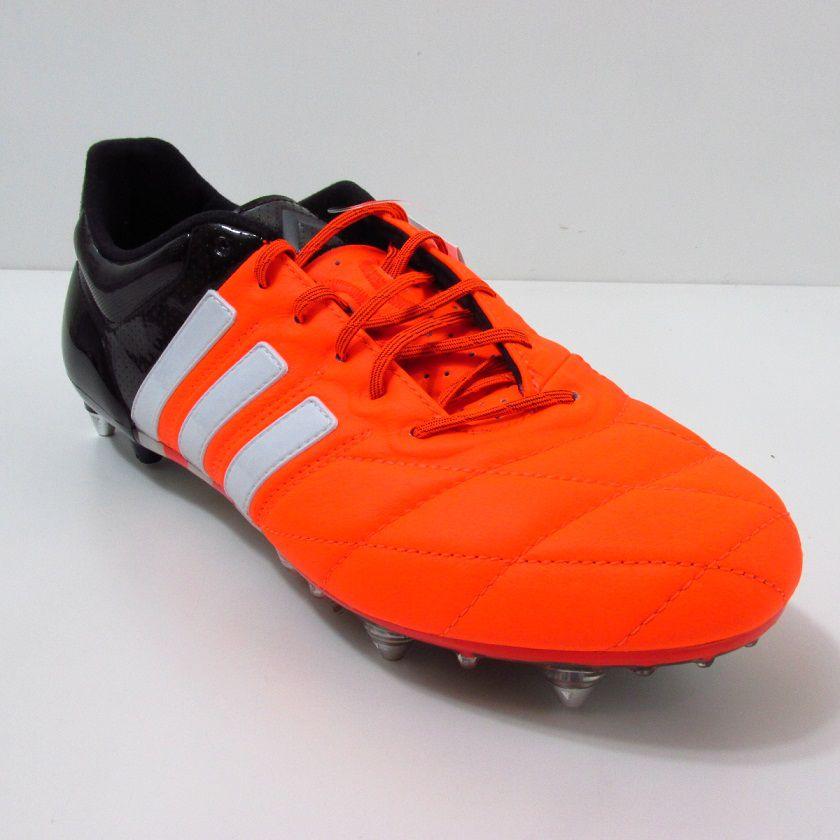 Chuteira Adidas Ace 15.1 SG Trava Mista - Couro de Canguru
