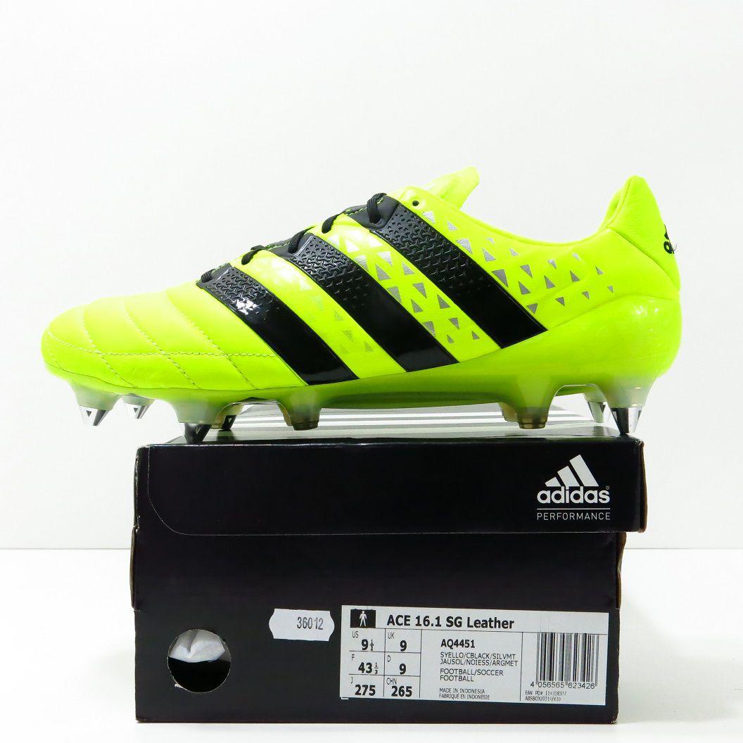 Chuteira Adidas Ace 16.1 SG - Trava Mista Couro de Canguru