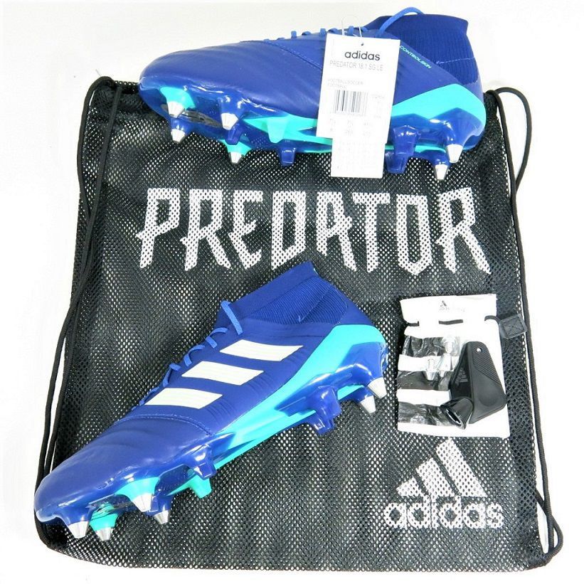 Chuteira Adidas Predator 18.1 SG Elite Trava Mista - Couro de Canguru