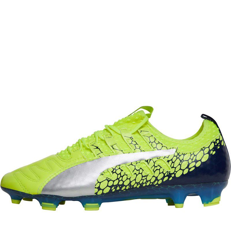 Chuteira Puma evoPOWER Vigor 1 Graphic FG Couro OLD FIRM