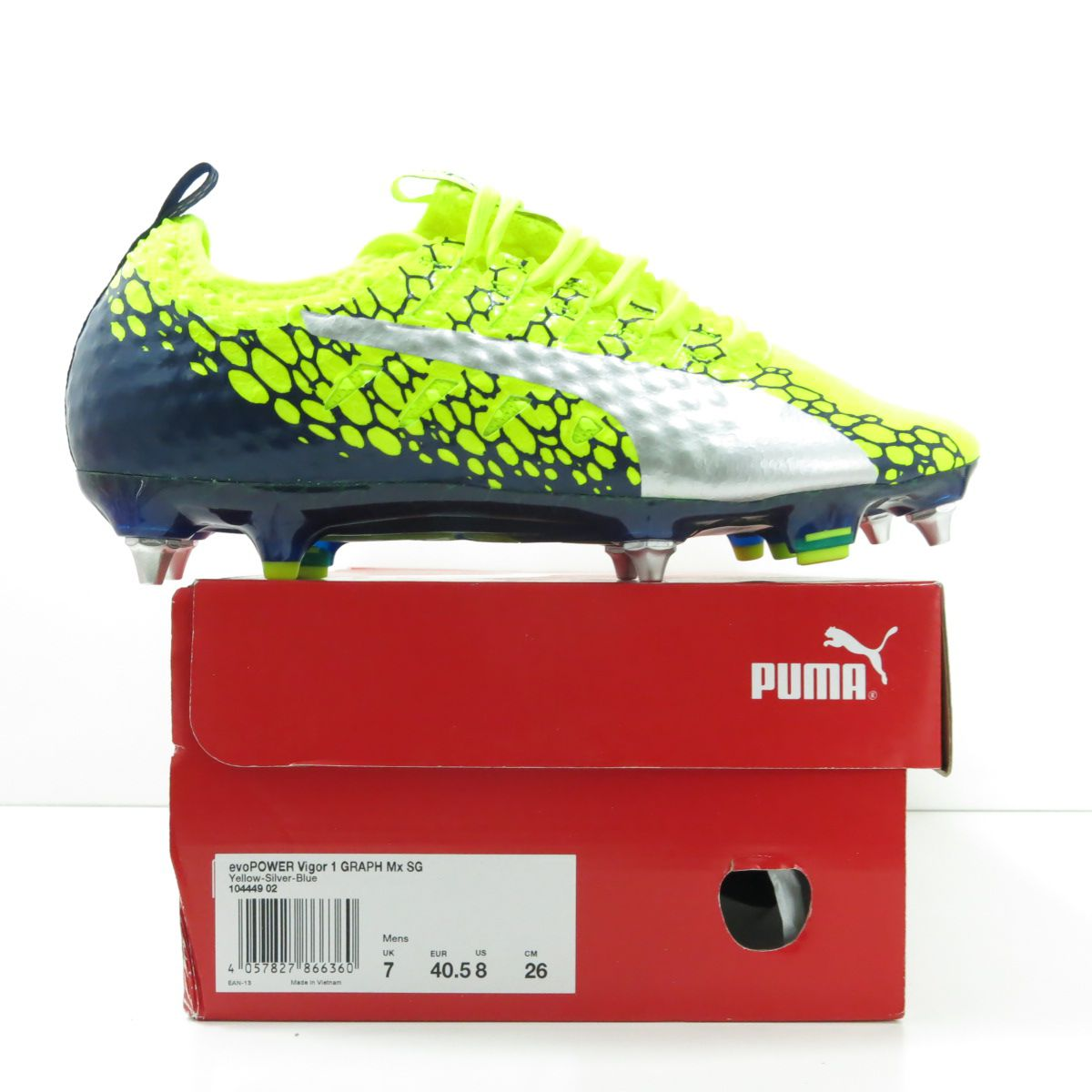 Chuteira Puma evopower Vigor 1 Graphic MX SG - Trava Mista