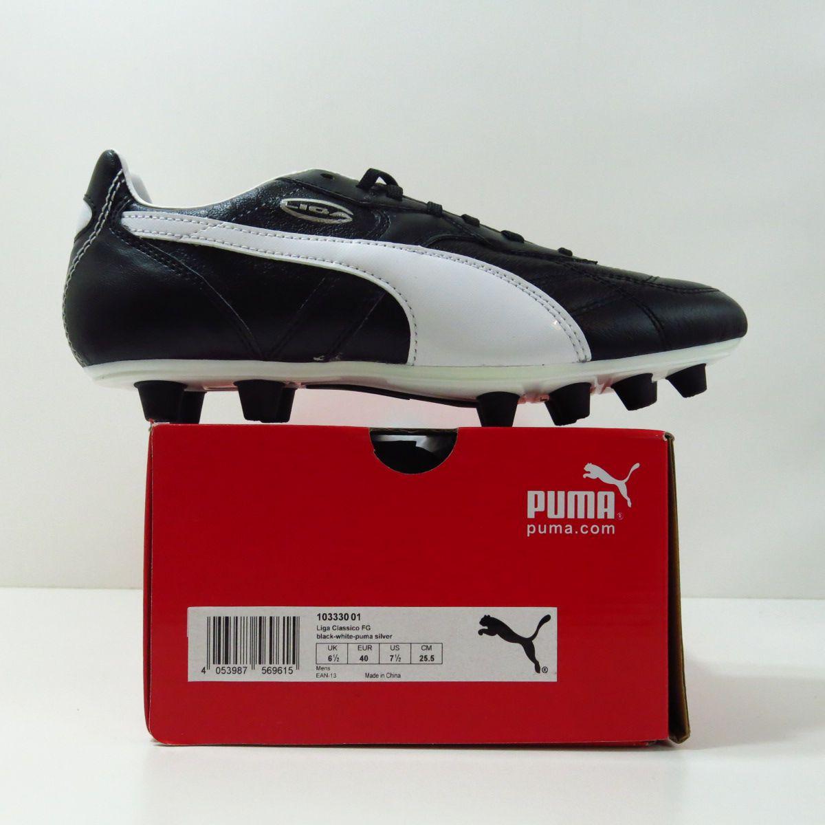Chuteira Puma Liga Classico FG - Couro