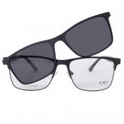 Armação de óculos com clip on polarizado Shades Brasil