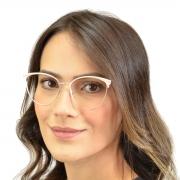 Armação de óculos metal dourado Shades Brasil