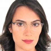 Óculos feminino fio de nylon metal para grau