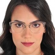 Armação Óculos Feminino Metal Nova Tendência