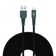 Cabo USB-C 3 METROS 2,4A PVC Flexível