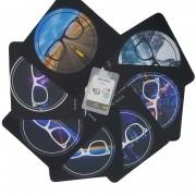 Kit 1 Limpa lentes slim + 1 microfibra premium Shades Brasil