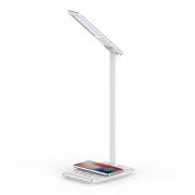 Luminária LED de mesa com carregador por indução