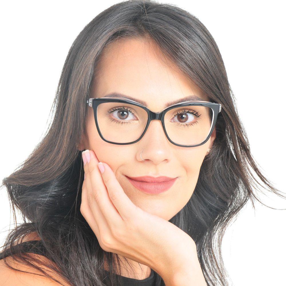 Armação De Oculos Feminino Oversized