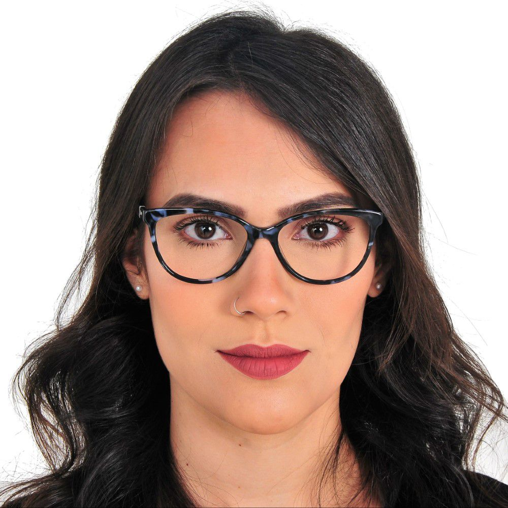 Armação feminina óculos cat eye