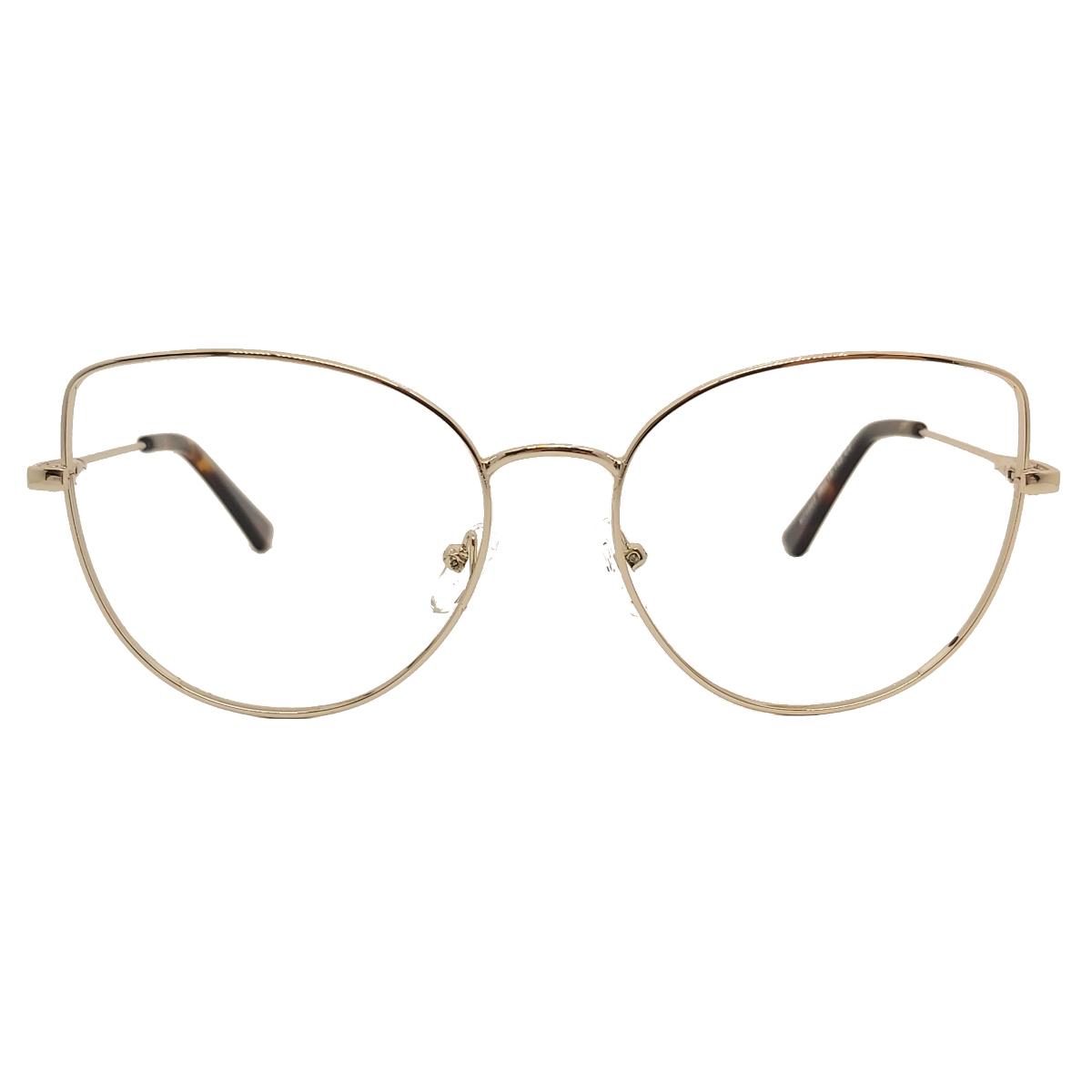 Armação oculos feminino metal cat eye