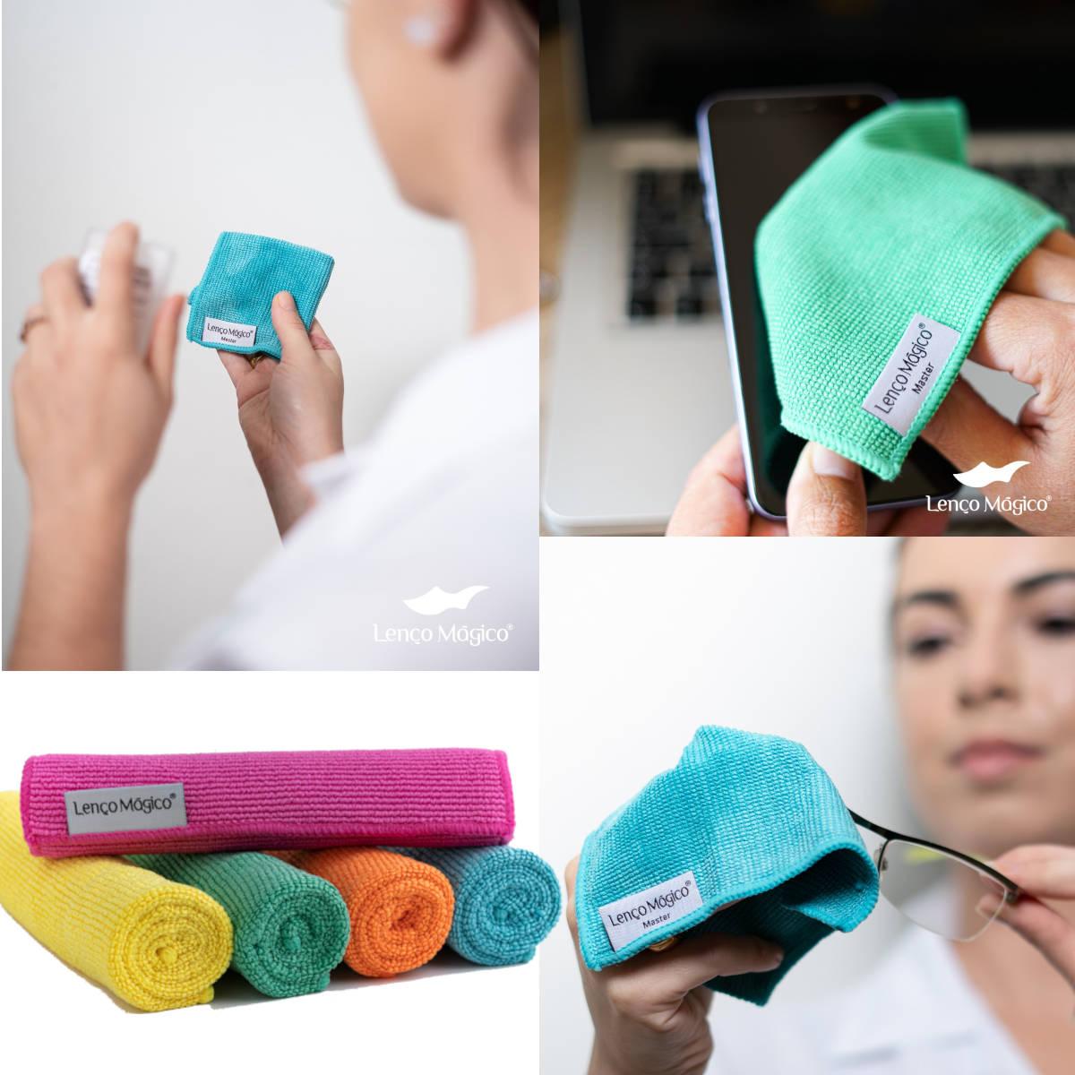 Kit 2 limpa lentes slim + 2 Lenço mágico master