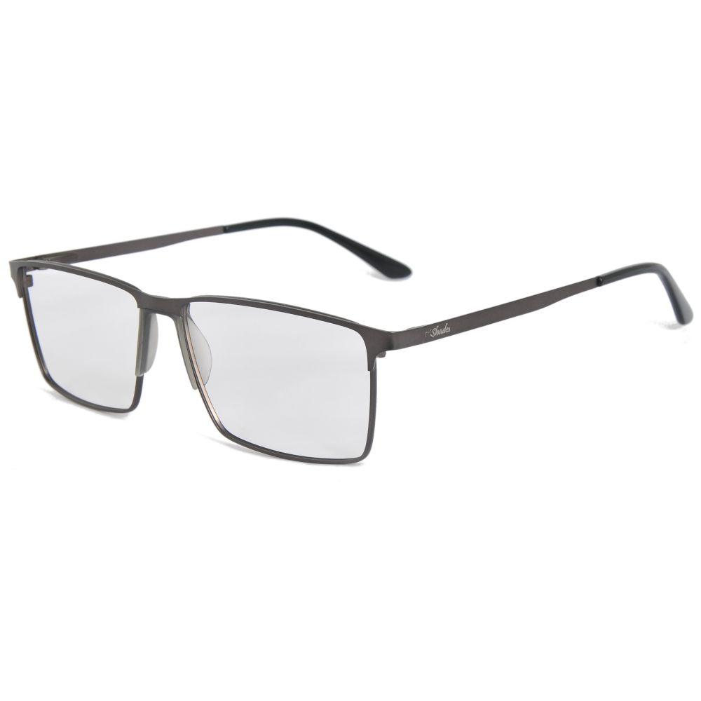 Oculos de grau masculino grande metal