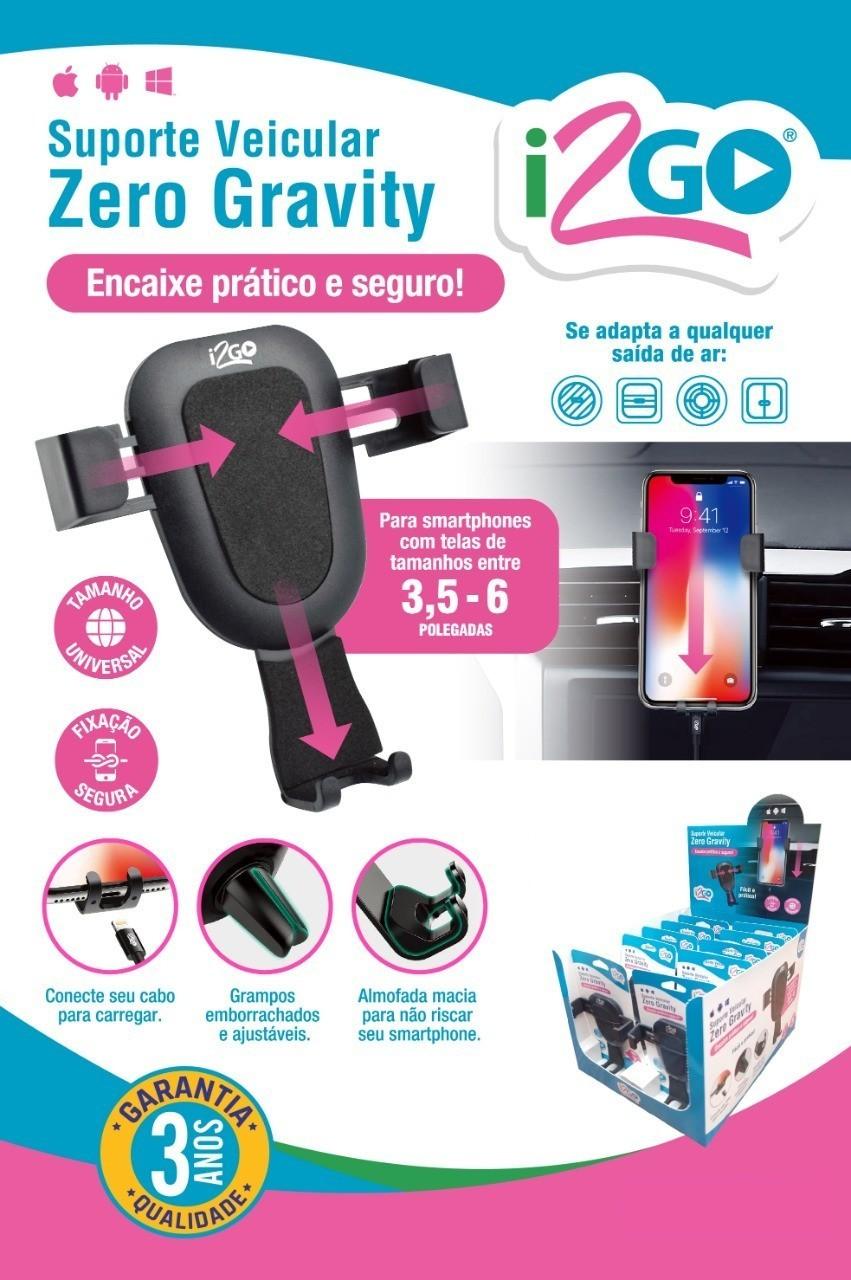 Suporte de celular Veicular Zero Gravity I2GO